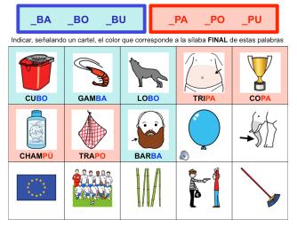 Discriminar /B-P/ final