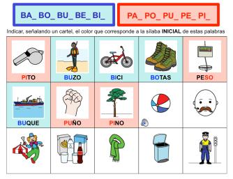 Discriminar /B - P/ inicial
